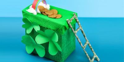 Fabriquez un piège à Leprechaun avec les enfants pour la Saint Patrick : cette célèbre fête irlandaise.