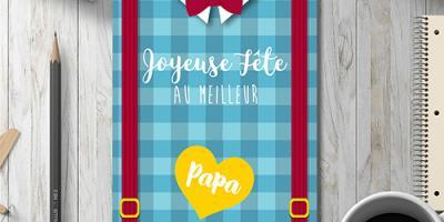 Des cartes de fête des pères prêtes à imprimer pour souhaiter une joyeuse fête des pères à son papa chéri adoré ! Il suffit d'imprimer les cartes directement sur de la carte forte puis d'y écrire un petit mot d'amour pour son papa.