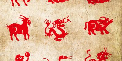 Le calendrier chinois et les signes astrologiques. Chaque année correspond à un animal astrologique. Il y en a 12 qui se suivent toujours dans le même ordre: