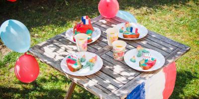 Toutes les activités du goûter d'enfants sur le thème de la fête nationaledu 14 juillet