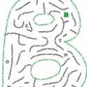Labyrinthe pour jouer avec les lettres de son prénom