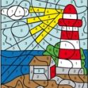 La mer : Coloriage numéroté