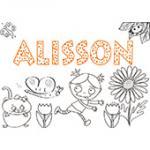 Alisson, coloriage Alisson