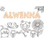 Alwena, coloriages Alwena