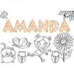 Amanda, coloriages Amanda