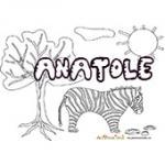 Anatole, coloriages Anatole