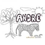 Andre, coloriages Andre