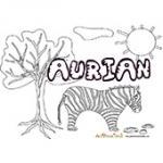 Aurian, coloriages Aurian