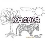 Bachir, coloriages bachir