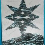 Fabriquer une carte de voeux étoile métallisée