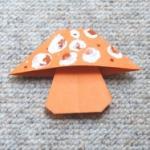 pliage d'un champignon en papier