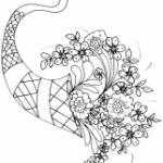 Coloriage de fleurs pour la fête des mères