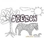 Diezon, coloriages Diezon