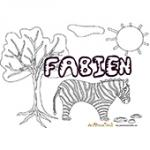 Fabien, coloriages Fabien