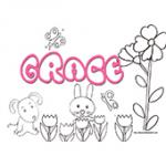 Grace, coloriages Grace