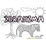 Ibrahima, coloriages Ibrahima