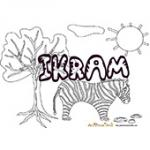 Ikram, coloriages Ikram