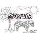 Jayden, coloriages jayden