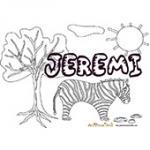 Jeremi, coloriages Jeremi