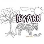 Kyann, coloriages Kyann