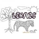 Lenaic, coloriages Lenaic