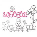 Leticia, coloriages Leticia