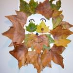 Fabriquer un lion en  feuilles d'automne