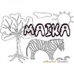 Malika, coloriages Malika