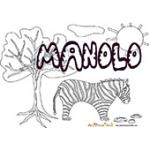 Manolo, coloriages Manolo