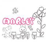 Marley, coloriage Marley