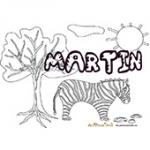 Martin, coloriages Martin