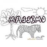 Massimo, coloriages Massimo