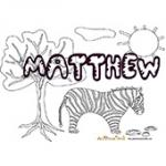 Matthew, coloriage Matthew