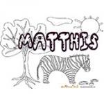 Matthis, coloriage Matthis