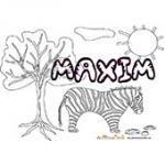 Maxim, coloriages Maxim