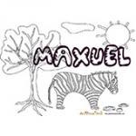 Maxuel, coloriages Maxuel