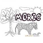 Meric, coloriages Meric
