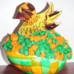 Fabriquer poule de P&acirc&#x3B;ques surprise sur un gros nid