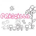 Priscilla, coloriages Priscilla