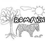 Romain, coloriages Romain