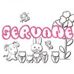 Servane, coloriages Servane