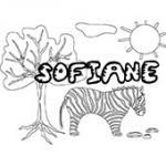 Sofiane, coloriages Sofiane