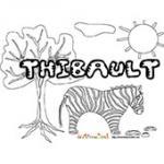 Thibault, coloriages Thibault