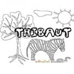 Thibaut, coloriages Thibaut