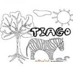 Tiago, coloriages Tiago