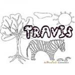Travis, coloriages Travis