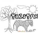 Tristan, coloriages Tristan