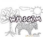 Wassim, coloriages Wassim