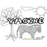Yacine, coloriages Yacine