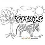 Yanis, coloriages Yanis